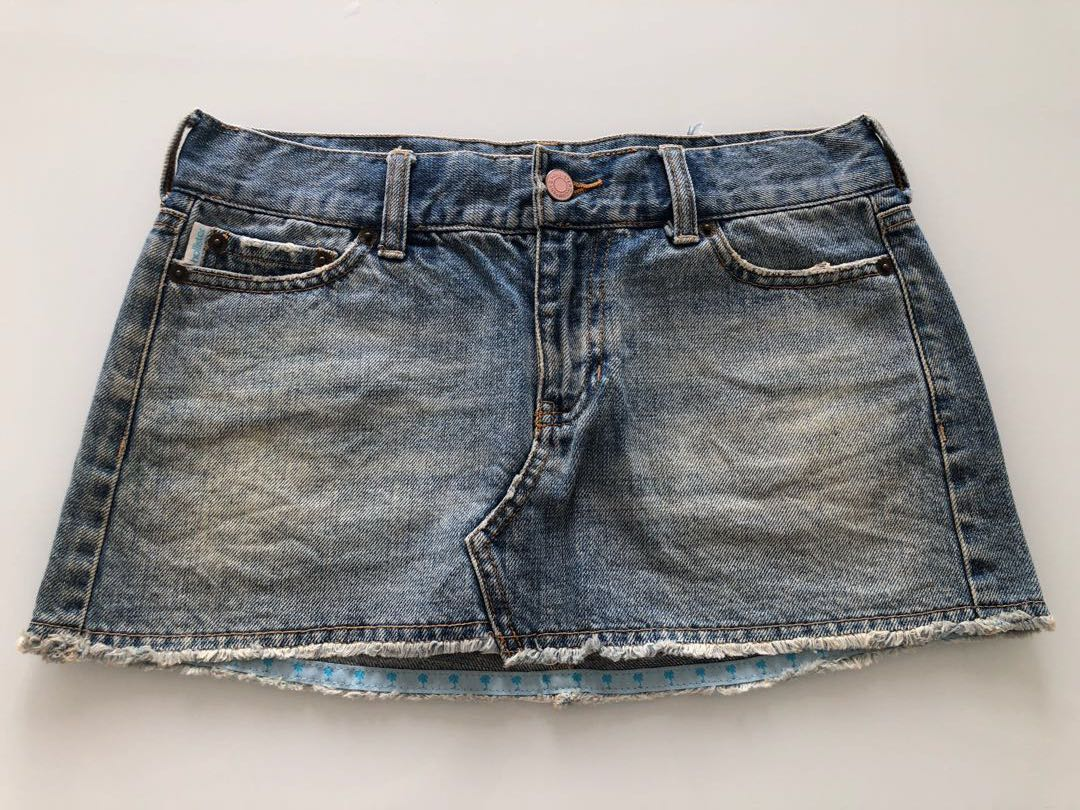 37746b433 Authentic Hollister Denim Skirt