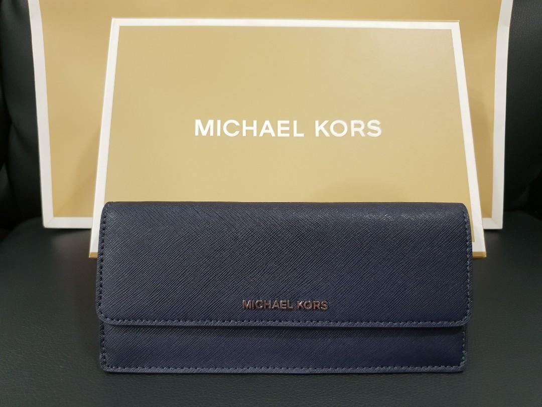 1c1605a9699c Authentic Michael Kors Long Flat Wallet