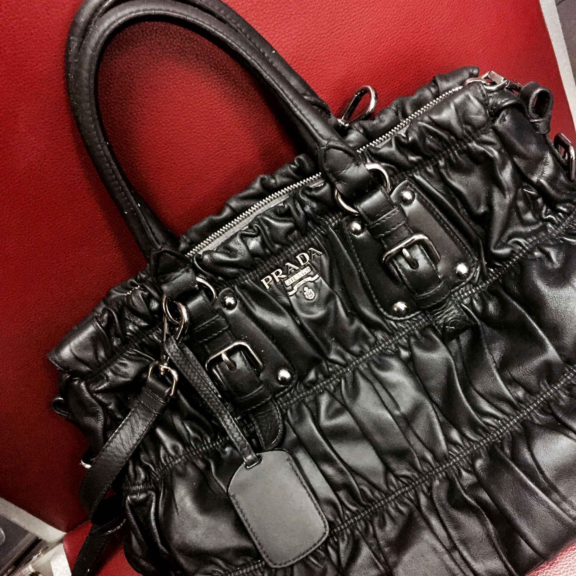 964c918f2d8c6a Authentic Prada Nappa Gaufre, Luxury, Bags & Wallets, Handbags on ...