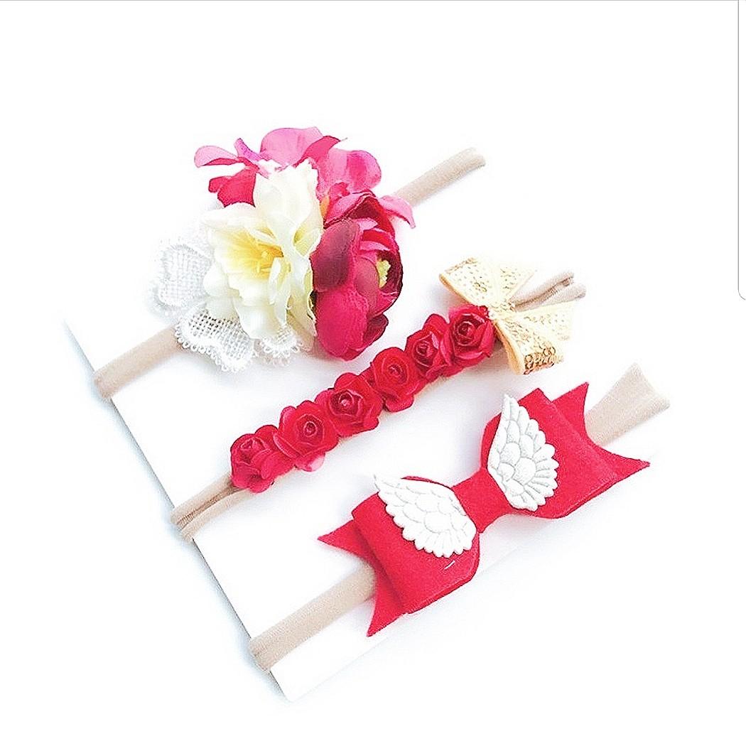 0ca53c6cabc0 B32) 3pcs set Princess Baby Girl Headband Hair Clip Hair Band ...
