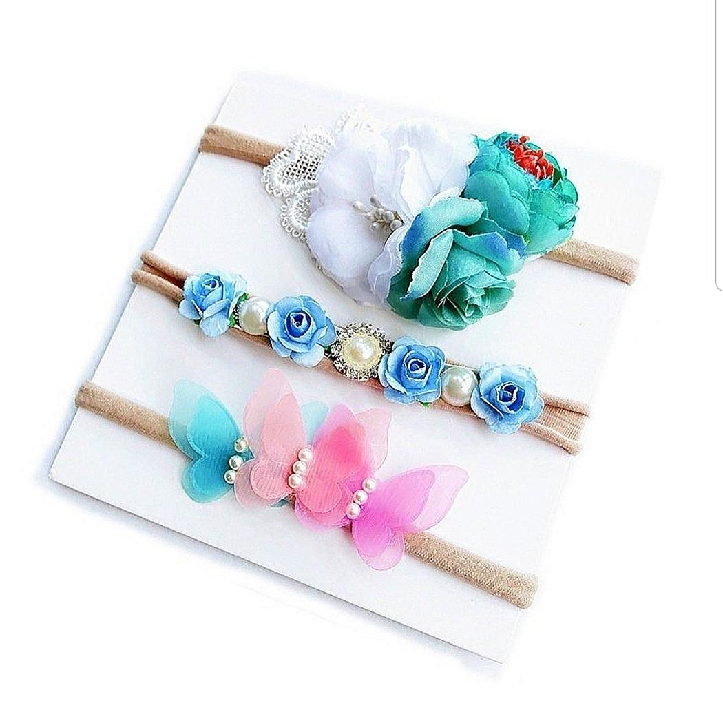 326c25c7e443 B30) 3pcs set Princess Baby Girl Headband Hair Clip Hair Band ...