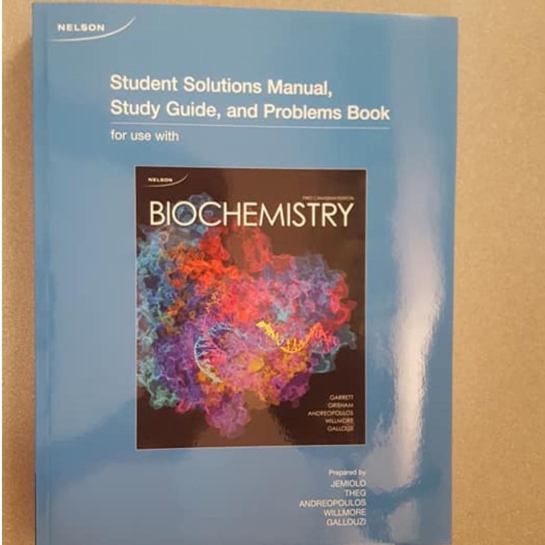 Biochemistry First Canadian Edition, Textbook and Student Solutions Manual, Garrett