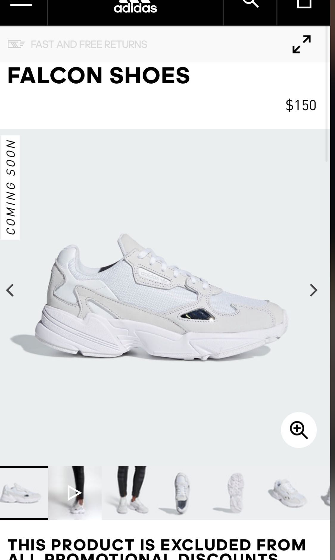 ffe7c5aeafd7 BNWT Adidas Falcon Sneakers White, Women's Fashion, Shoes, Sneakers ...