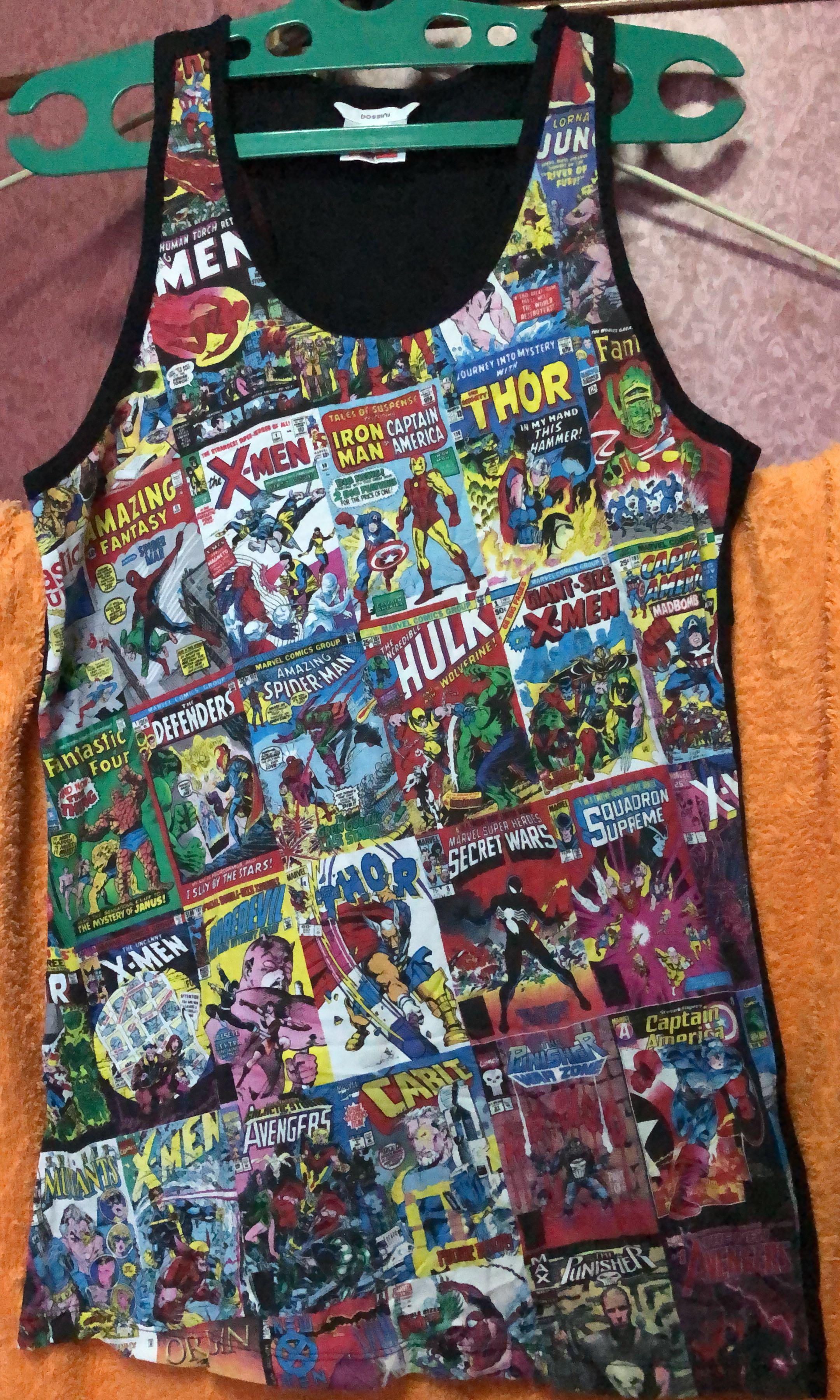 f1f1aac4330da BNWT Bossini Marvel Comics, Men's Fashion, Clothes, Tops on Carousell