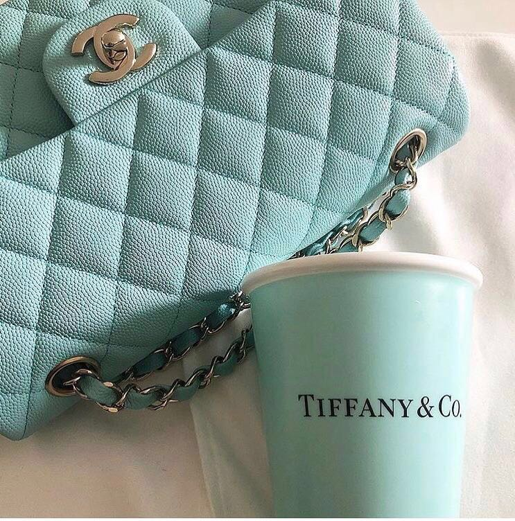 aa3a53ae1916 Chanel 2019 cruise collection Tiffany Blue Carviar Flap, Luxury, Bags &  Wallets, Handbags on Carousell