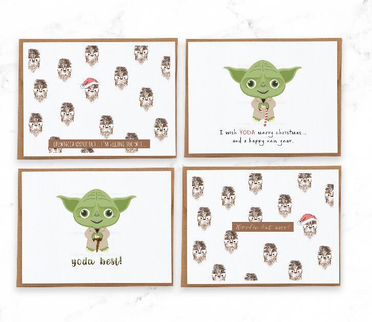 christmas cards star wars christmas cards funny and cute christmas cards design craft handmade craft on carousell
