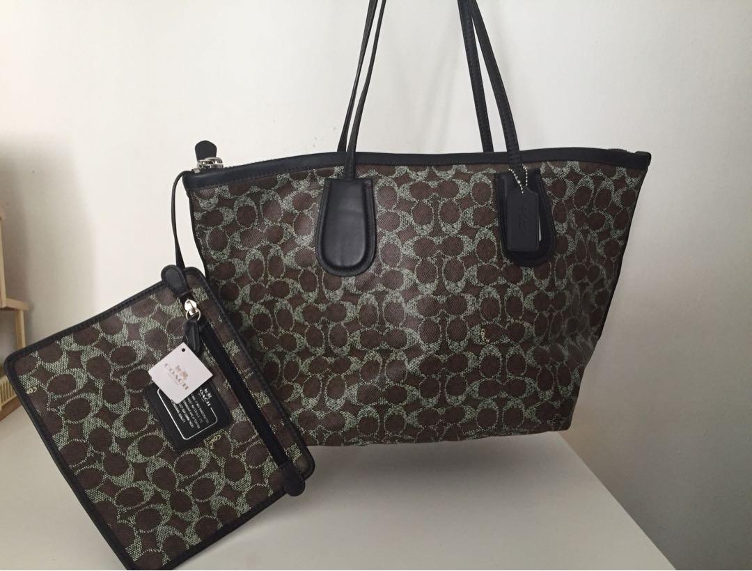 627f5adc76 Coach handbag AK Brown Black