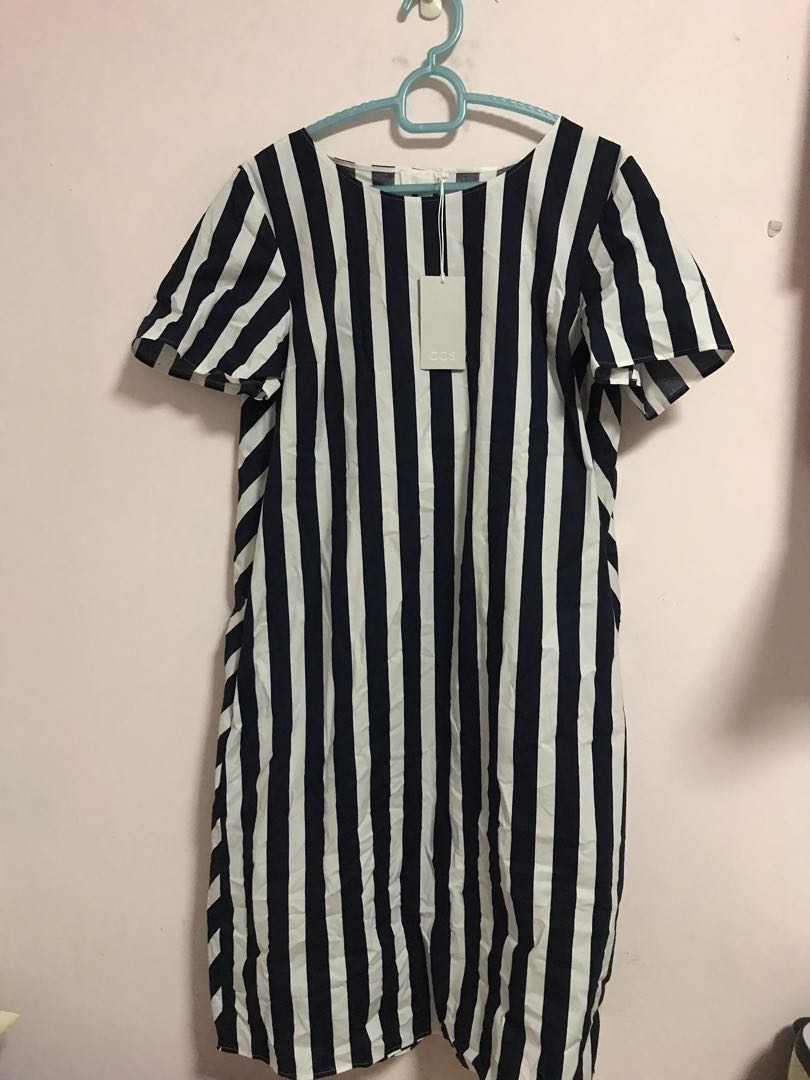 d57419a88a654 COS Black and White Striped Dress, Women's Fashion, Clothes, Dresses ...