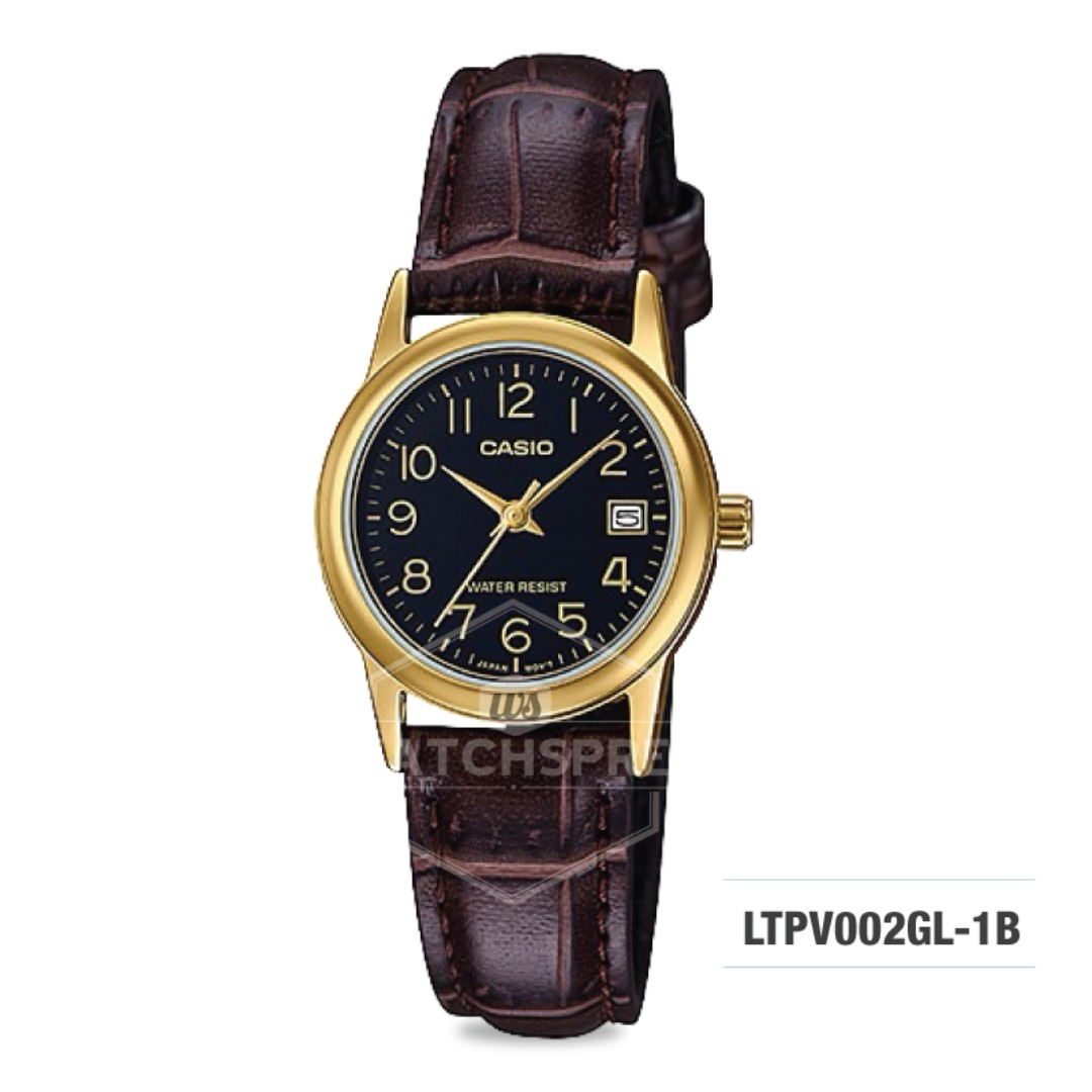 38780bcd96f8 FREE DELIVERY  CASIO GENUINE  LTPV002GL-1B 100% Authentic with 1 ...