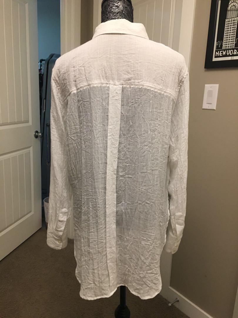 Free People oversized button up