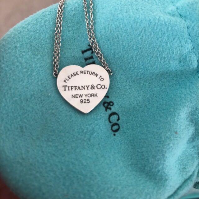 GENUINE w receipt - Return To Tiffany necklace RRP $250