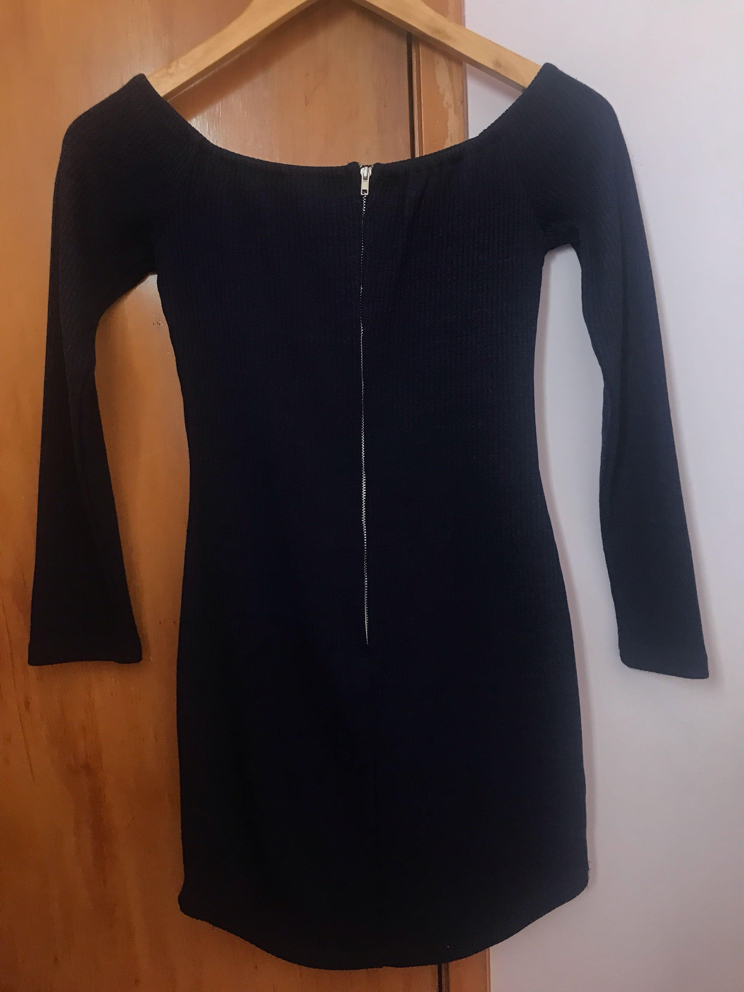 Gorgeous Navy Off the Shoulder Dress - size 6