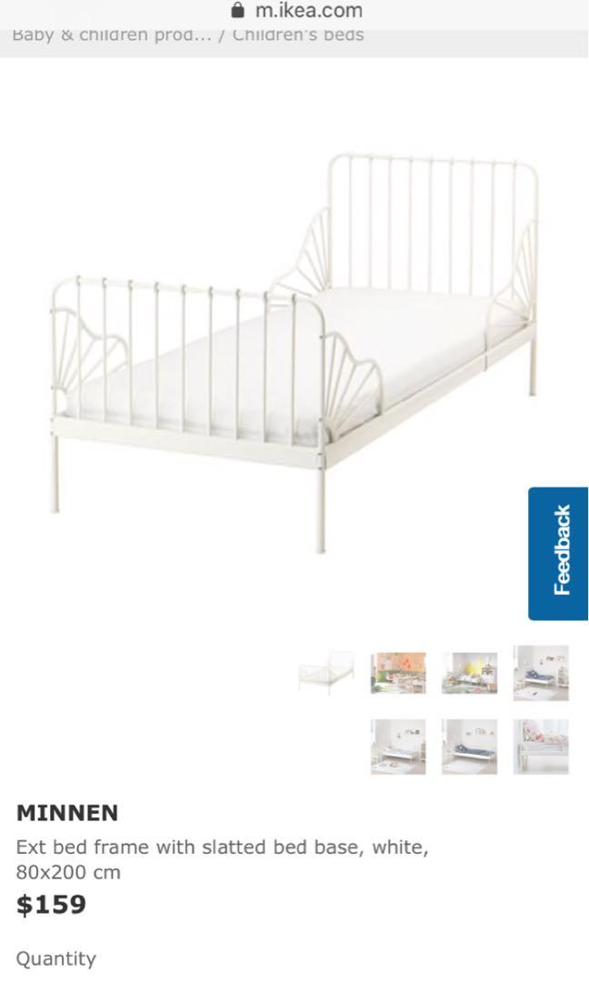 Ikea Metal Grow With Your Child Bed Frame Babies Kids