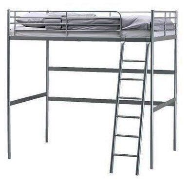 Ikea Tromso Loft Bed Frame Only Double Furniture Beds