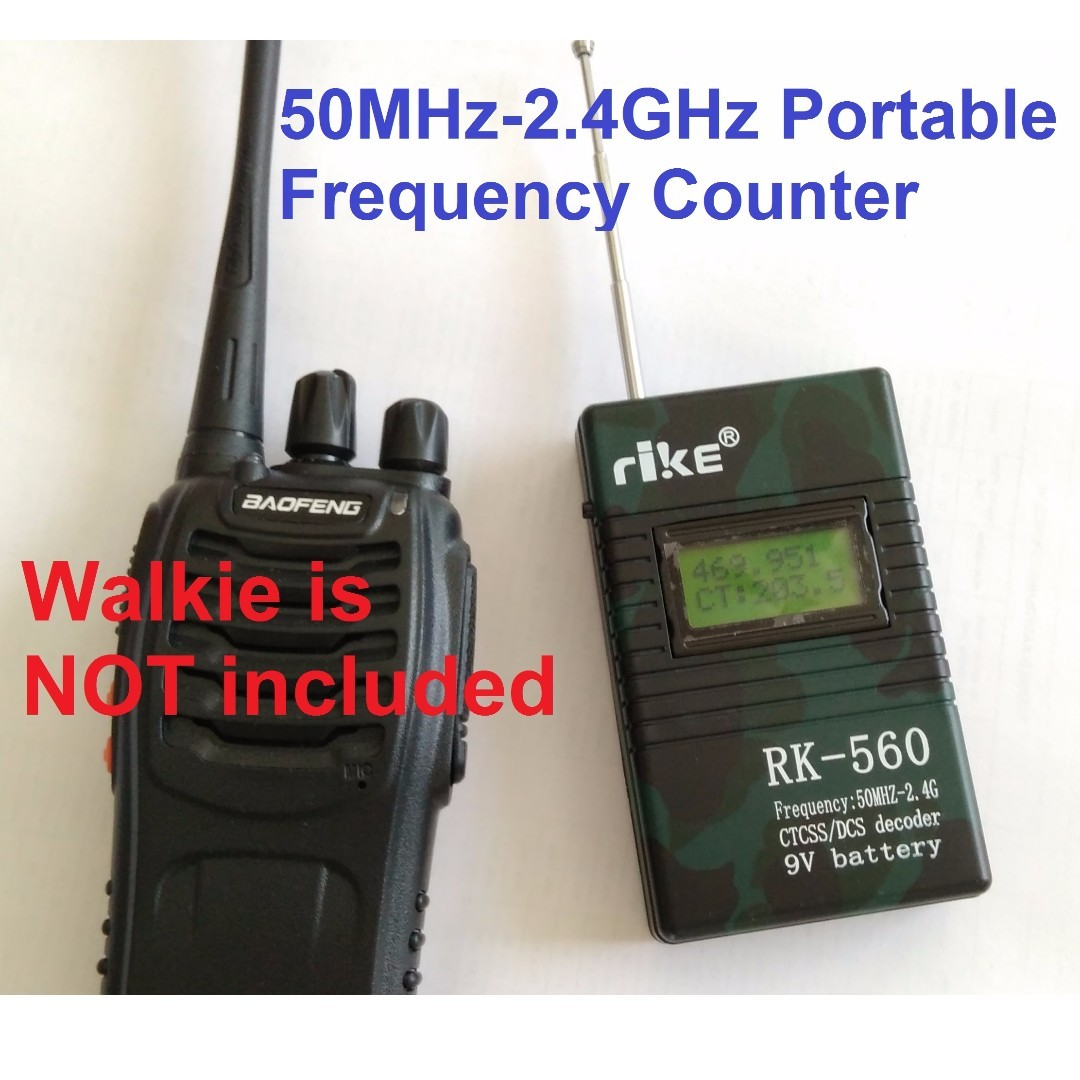 Last piece, Accurate Portable Handheld Frequency Counter RK560 50MHz-2 4GHz  DCS CTCSS Radio Testing Frequency Meter Counter