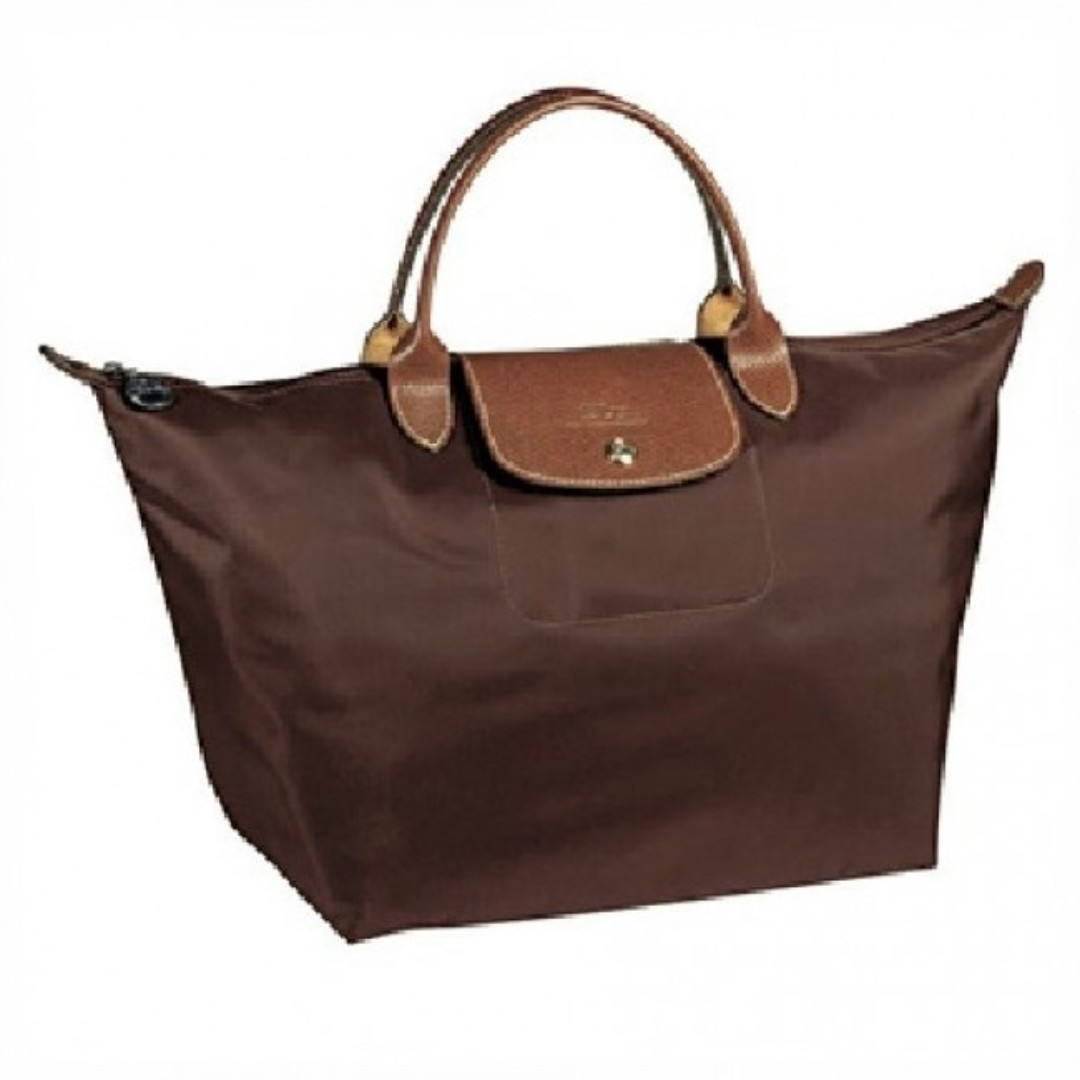 a68a412640b6 Longchamp Le Pliage Medium Handbag (Short Handle) Dark Brown ...