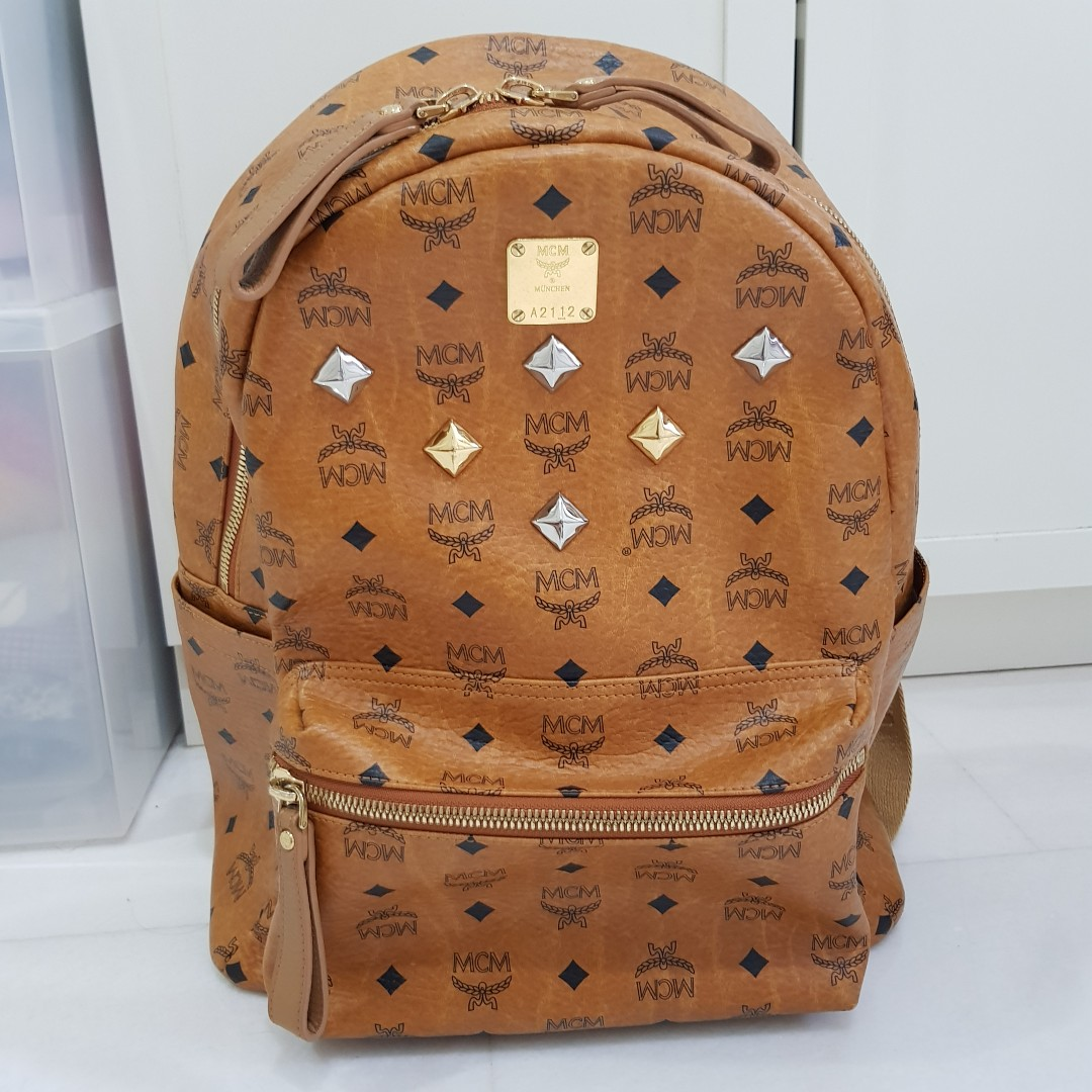 7f28ad5275b Authentic Pre-Loved MCM Classic Stark Backpack