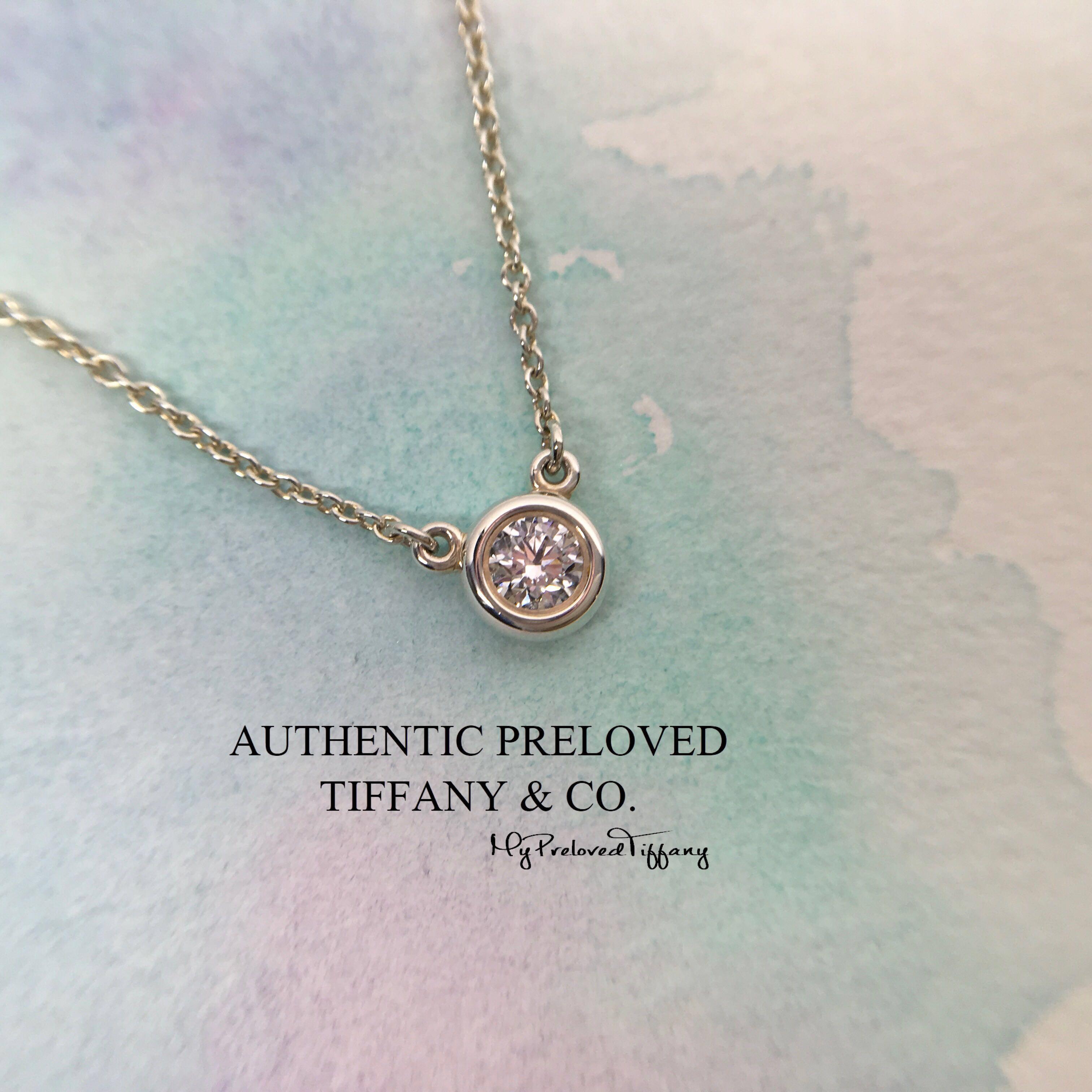 2707258c3 Mint Tiffany & Co Elsa Peretti By The Yard 0.17ct Silver Diamond ...