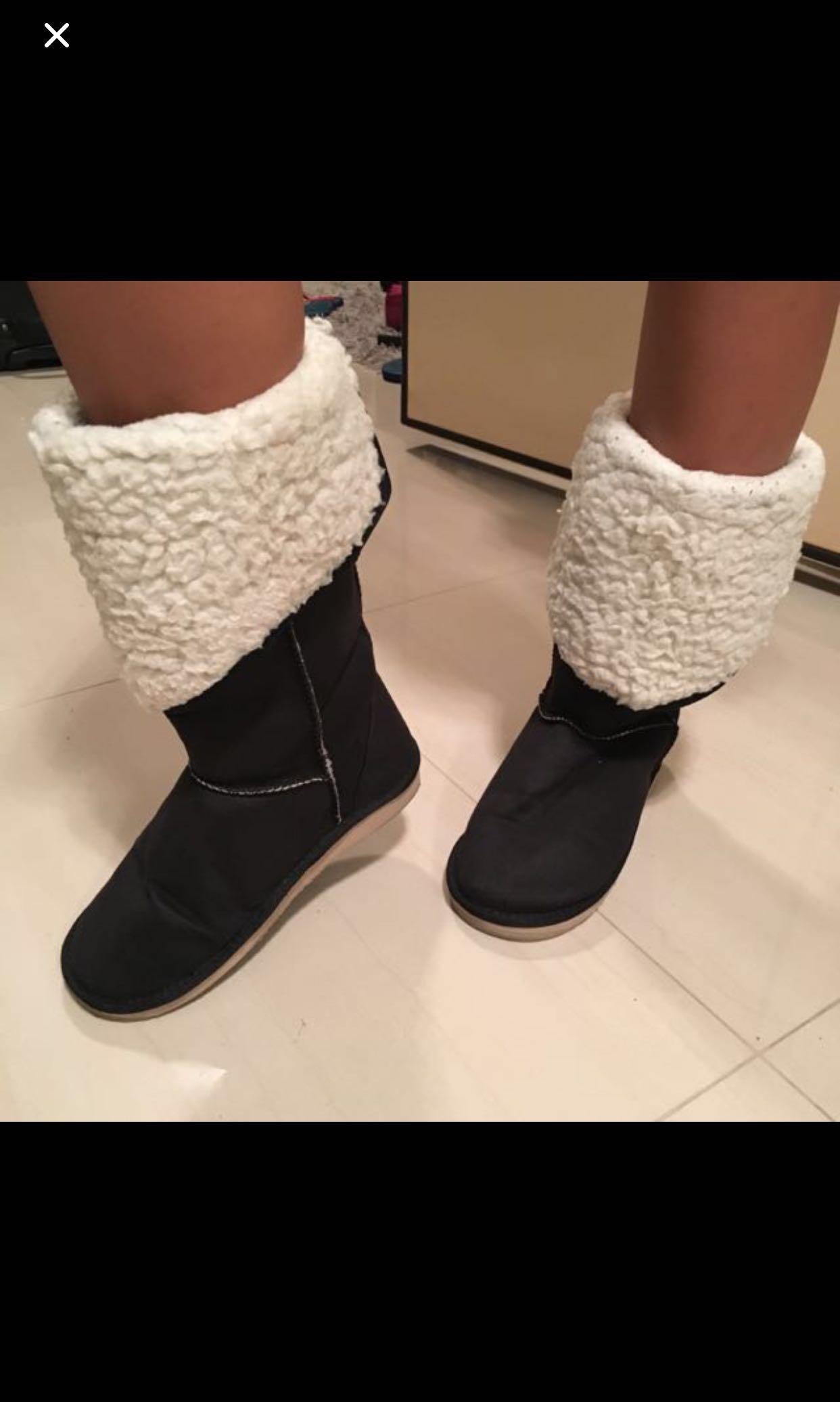 8ea4b95a878 Muji UGG Style Winter Boots
