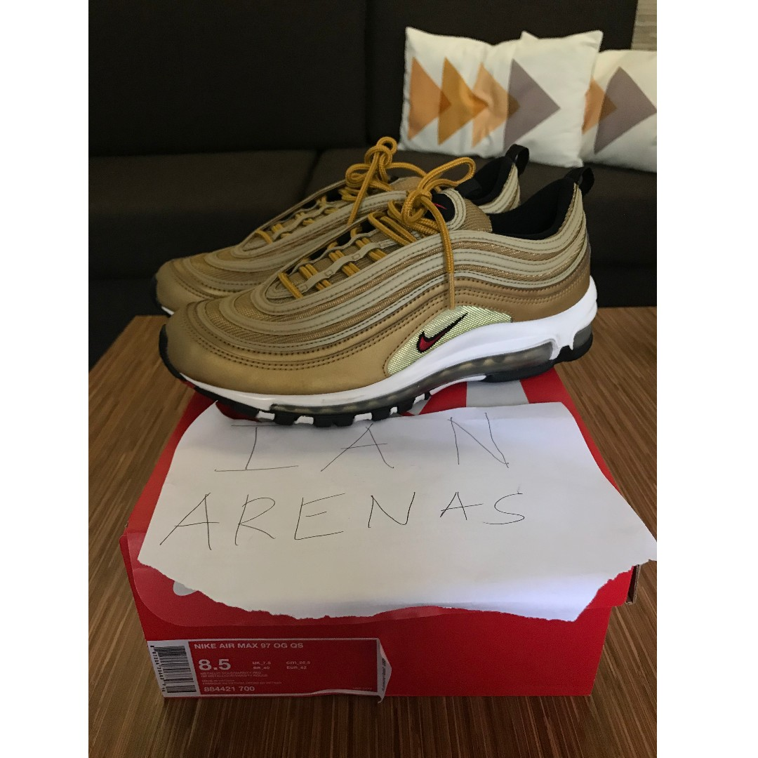 8517df1d82 Nike Air Max 97 Gold Metallic/Gold Bullet 2018 Size 8.5, Men's ...