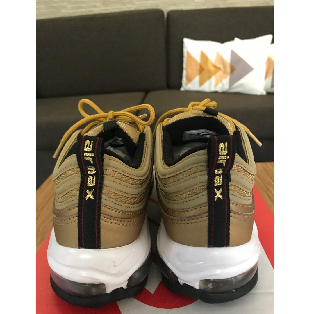 449093bc81 Nike Air Max 97 Gold Metallic/Gold Bullet 2018 Size 8.5, Men's Fashion,  Footwear, Sneakers on Carousell