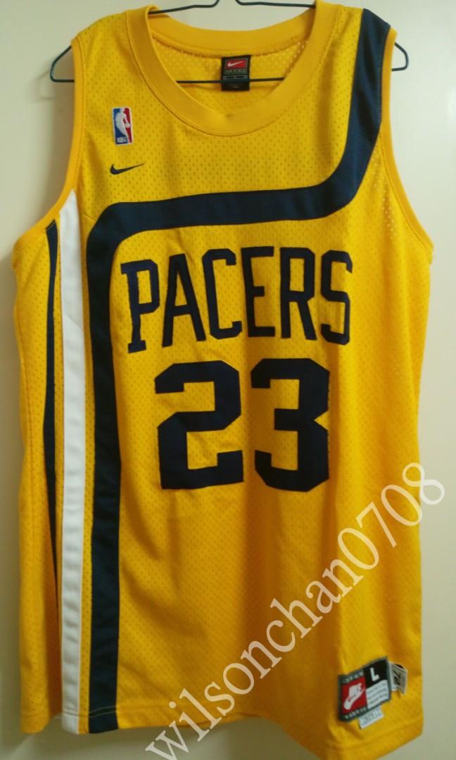 75c7c9cb358a Nike Indiana Pacers Ron Artest 復古Swingman Jersey NBA 繡字絕版籃球 ...
