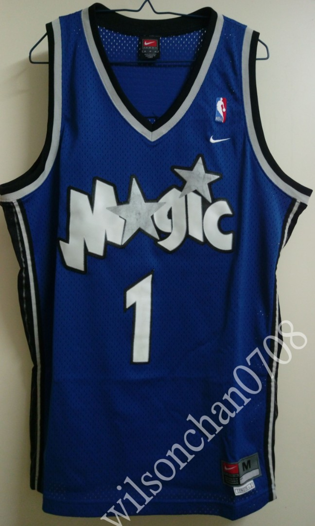 e2f323008b9 Nike Orlando Magic Tracy McGrady Road Swingman Jersey NBA 繡字絕版籃球波衫球衣,  Sports, Athletic & Sports Clothing on Carousell