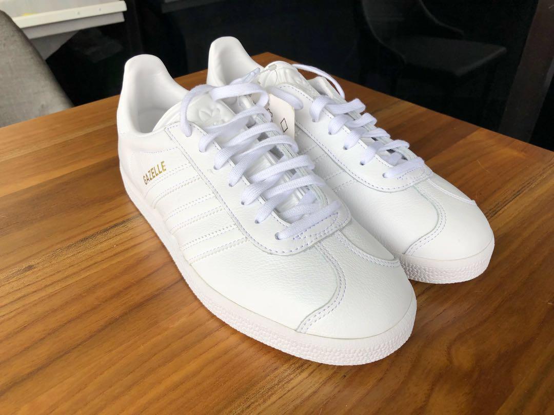 ON HAND! Adidas Gazelle Triple White US