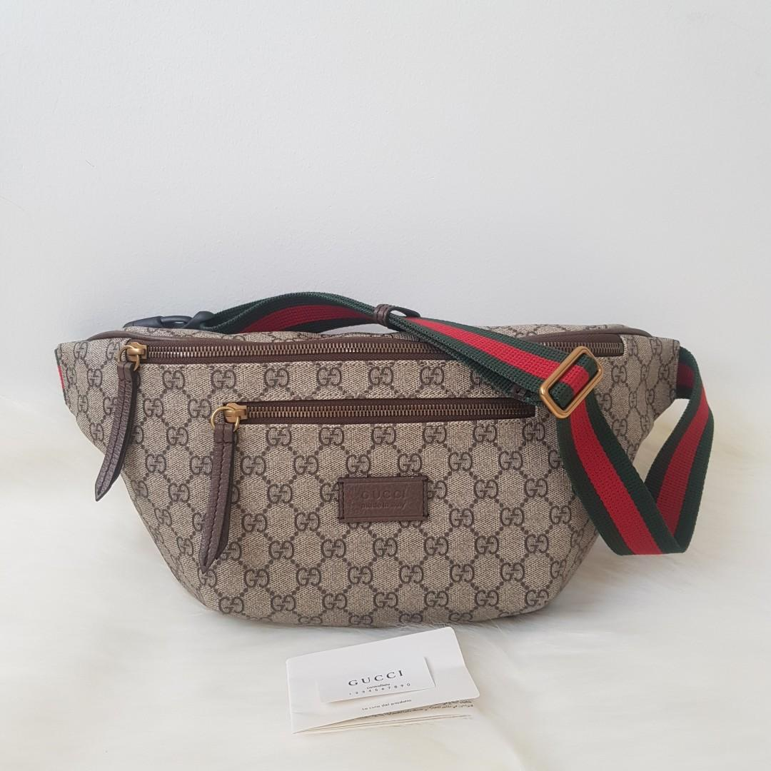 dd4d7e8781e0 ON HAND: Authentic Gucci Courrier GG Supreme Belt Bag on Carousell