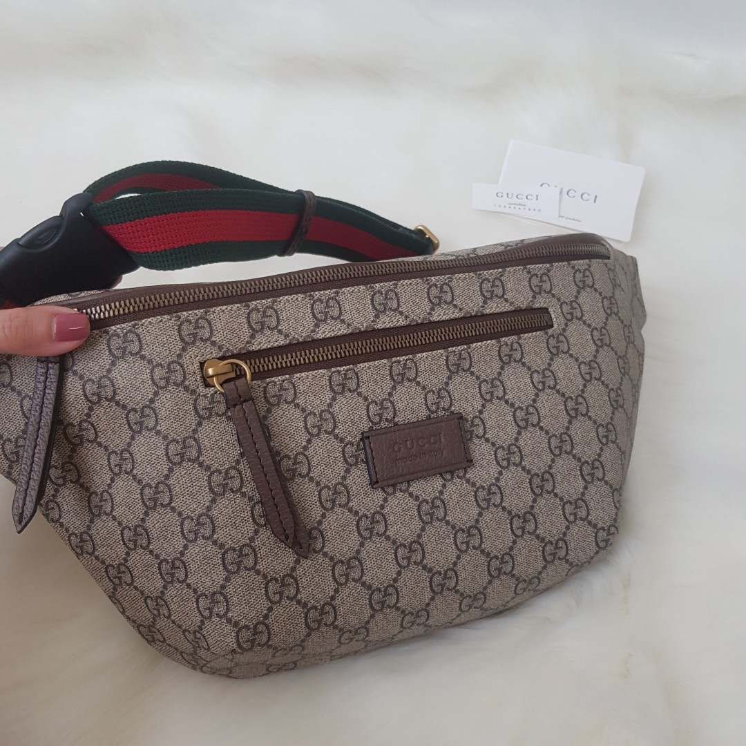 836807fbcb8 ON HAND  Authentic Gucci Courrier GG Supreme Belt Bag