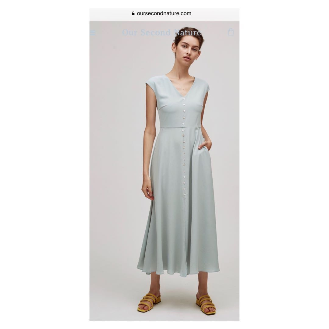 b2d606ee15 Our Second Nature OSN Button Down Maxi Dress
