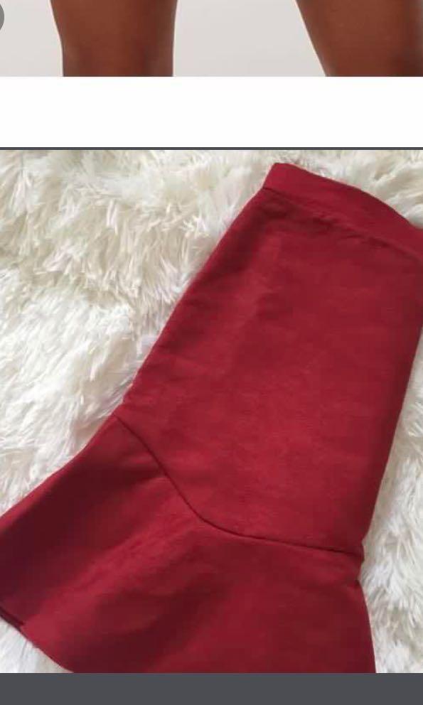 PLT red skirt