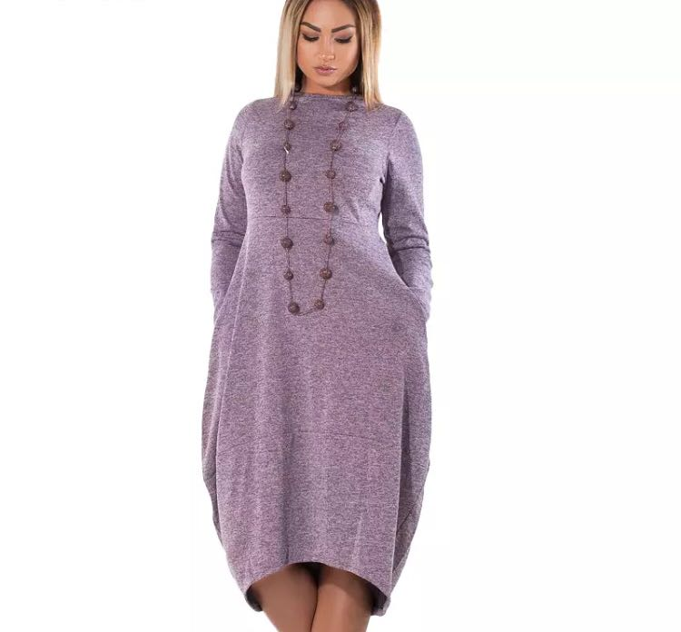 43eba873b5a PO) L-6XL 5XL 6XL Loose Casual women Dress big sizes new 2018 Autumn ...