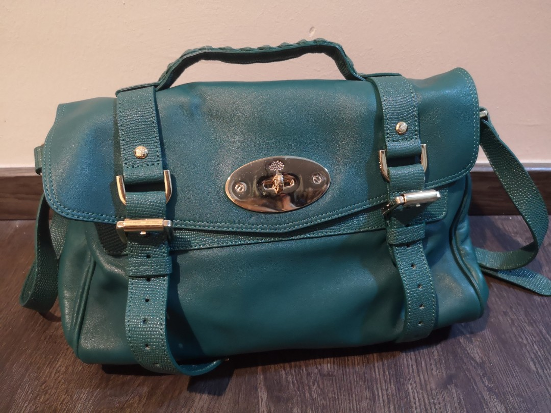 aa74f5920d Pre-loved Mulberry Alexa emerald satchel