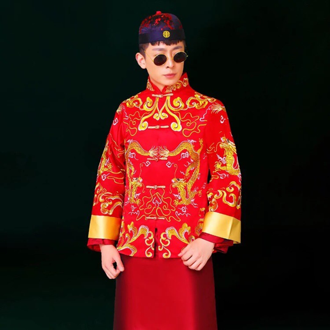 8482a762b Premium Quality Traditional Chinese Men Wedding Suit, Men's Fashion ...