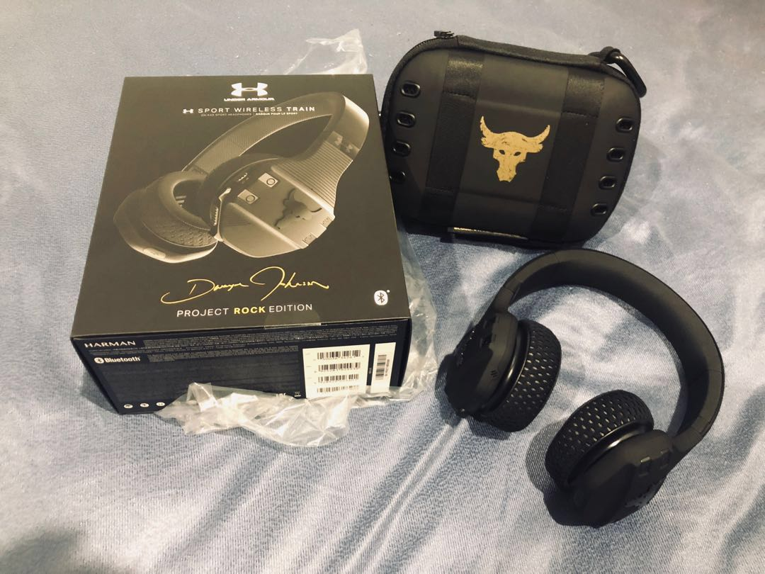 adf41113e59 Project Rock JBL Wireless Headphone, Electronics, Audio on Carousell