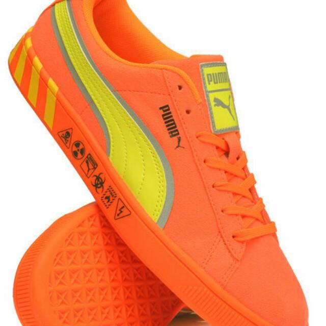 Puma Hazard Orange Sneakers by Puma