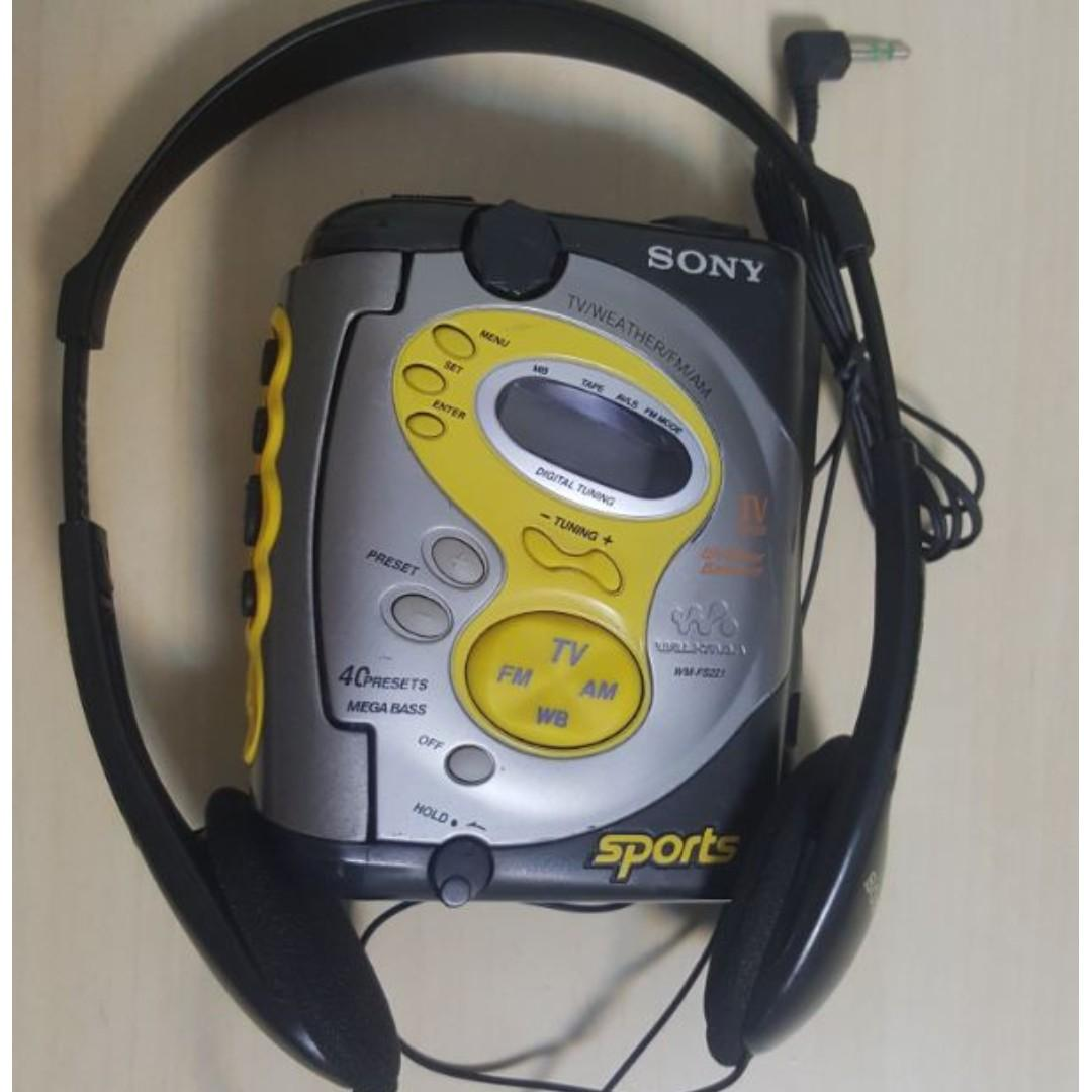 Rare and Hard to Find, Sony WM-FS221 Sports Walkman Cassette