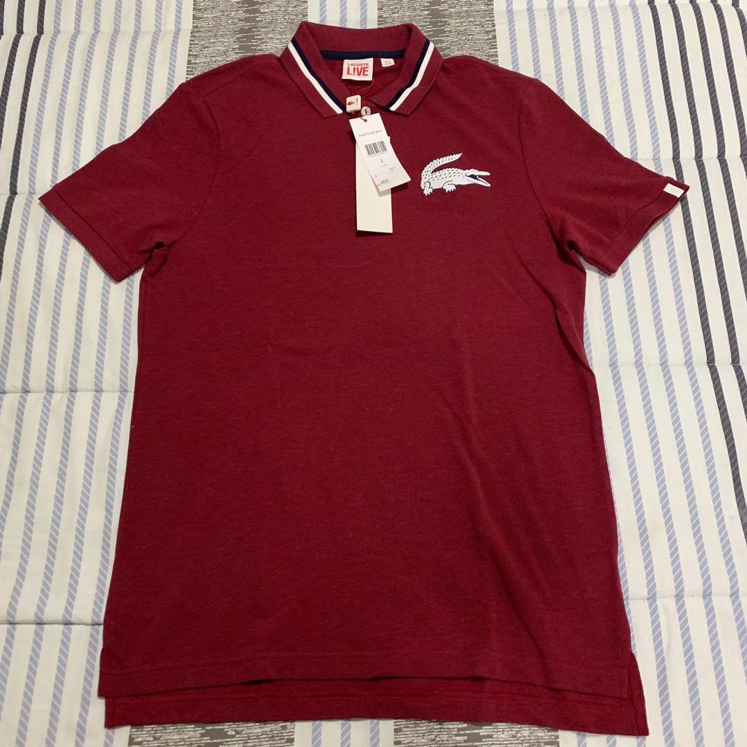 Rare Lacoste Big Polo Logo Polo Shirt Men S Fashion Clothes Tops