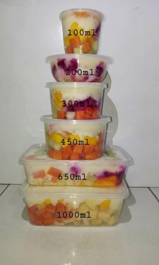 Ukuran Cup Salad Buah 200 Ml