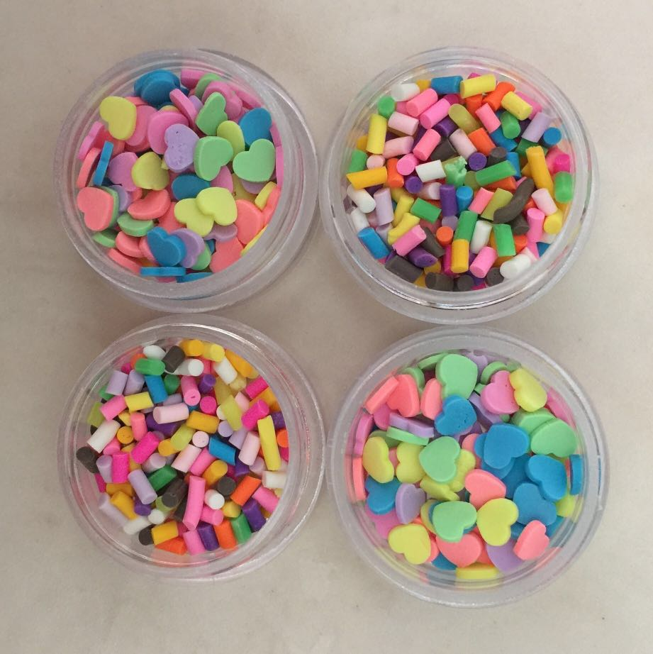 slime fake sprinkles, Design & Craft, Craft Supplies & Tools