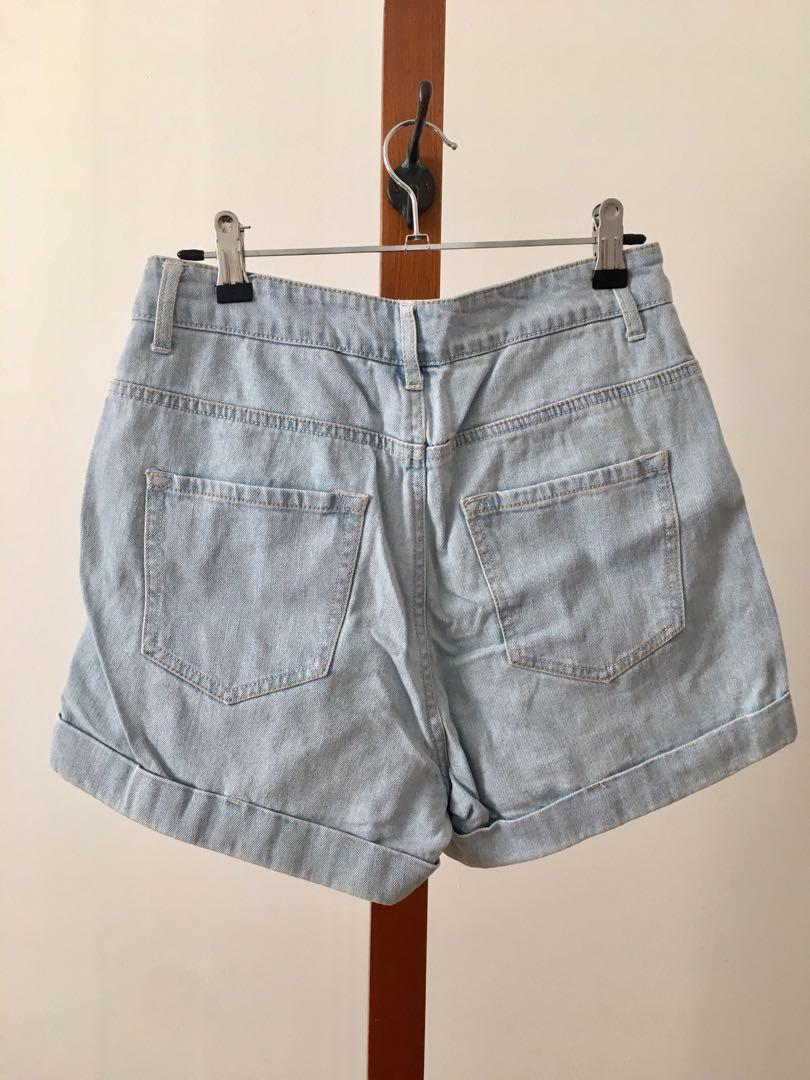 Subtitled Denim High waisted Shorts General Pants - Size 8