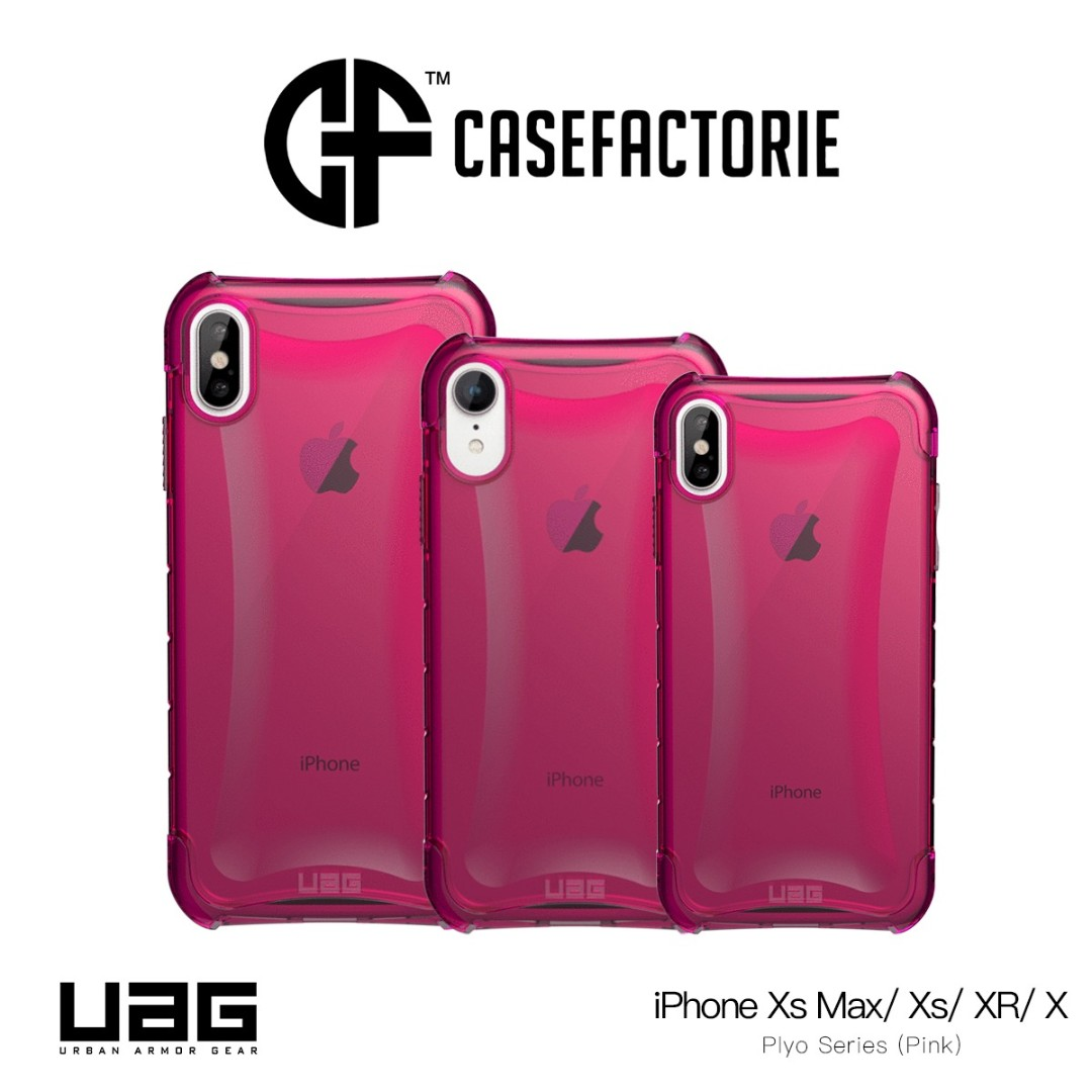 new style b70c1 d6c23 UAG Plyo Case Pink for iPhone XR, Xs/ X, Xs Max