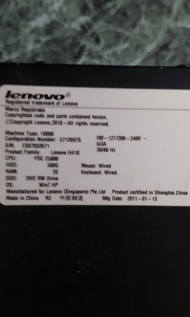 Used lenovo pc - windows 10