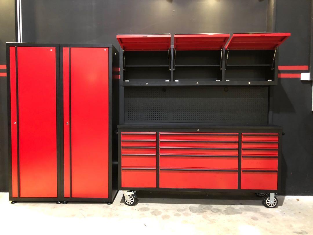 Workbench and storage cabinet