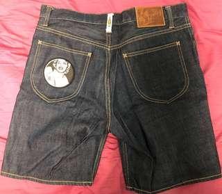 Billionaire boys club 短牛仔短褲 jeans made in japan