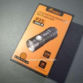 (CNY SALE) Fitorch P25 4x CREE XP-G3 3000lm 26350 Flashlight