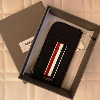 Thom Browne Zipped Leather Card Holder