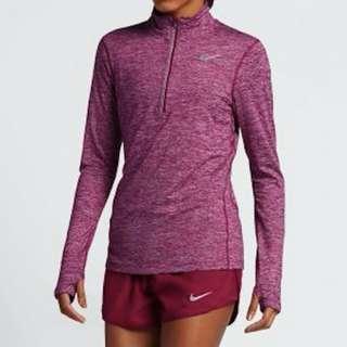 Nike Women's Half Zip Long Sleeve Top