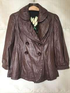 Carrie Lacrox Lamb Leather Jacket